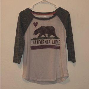 California Love 3/4 Sleeve T